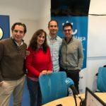 Propósitos de Año nuevo de BisturíSolidario par 2019 en la imagen Mario Montesto, Carmen Abenza, César Ramírez y Jesús Segado